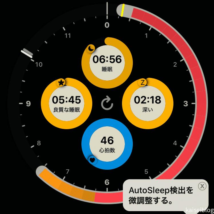 AutoSleepというのはApple Watch内のApple Storeでインストールできるアプリ