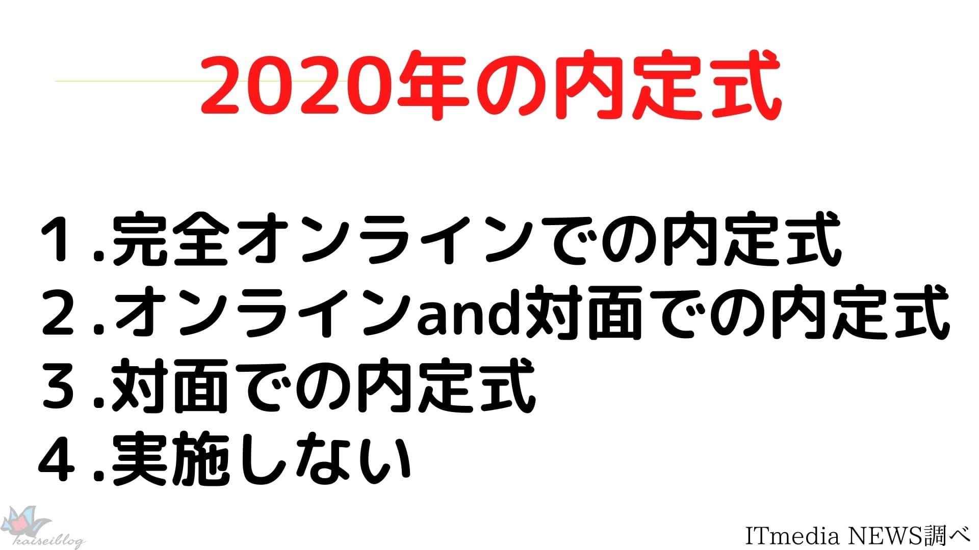 2020年 内定式