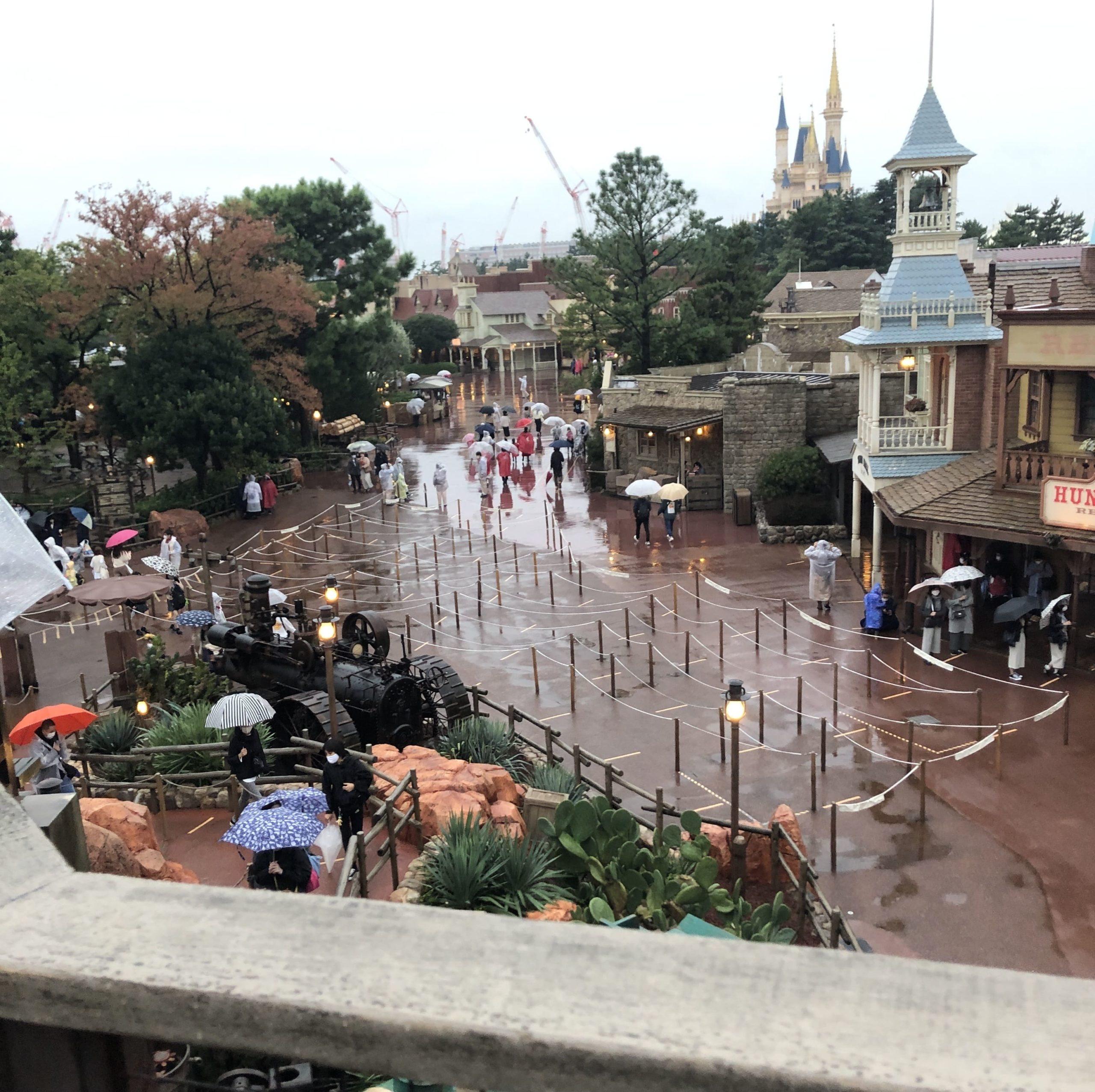 ディズニーランド 天候 雨